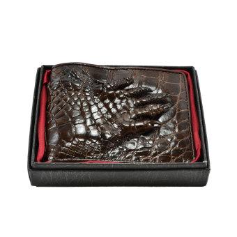 Ví nam da cá sấu móng tay Gia Huy GH-S112-2 (nâu đất)