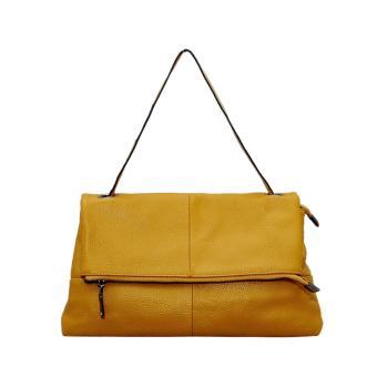Túi xách nữ da bò thật màu vàng cao cấp