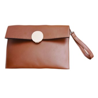 Women Fashion PU Leather Messenger Shoulder Lock Bag Ladies Crossbody Bag - intl