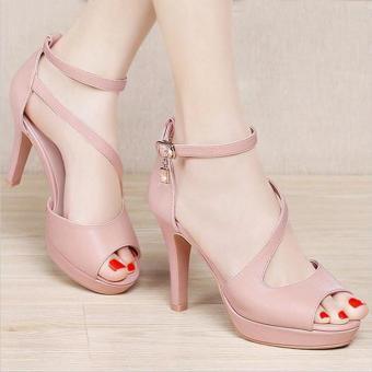 Giày cao gót phối chuông đá thời trang - LN212