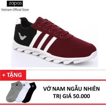 Giày Sneaker Thể Thao Nam Zapas GS001 (Đỏ phối đen) + Tặng Vớ Nam