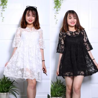 Đầm ren hoa ENVY D0468 ( trắng, đen)