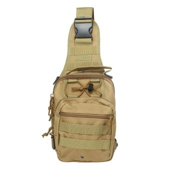 niceEshop Outdoor Tactical Backpack, Canvas Shoulder Sling Backpack Chest Deployment Bags for Camping,Hiking,Trekking,Rover Sling Pack Chest Pack ,Khaki - intl