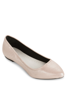 Giày Búp Bê Nhọn Ánh Nhũ (Vàng)