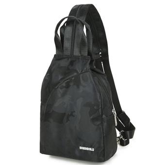 Fashion Unisex Casual Travel Satchel Shoulder Backpack BK - intl