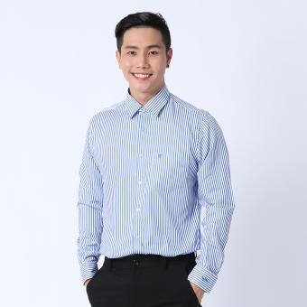 Áo sơ mi công sở tay dài Slimfit Việt Tiến 8G0171NT5/L3V (Xanh)