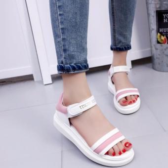 Giày Sandal cá tính S068H (Trắng hồng)