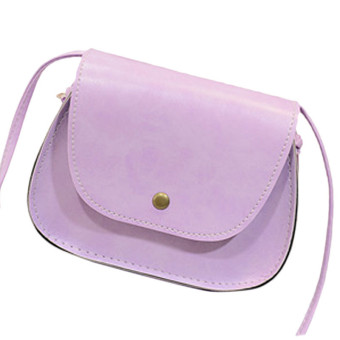 Hot Retro Women Messenger Bags Chain Shoulder Bag Leather Crossbody Purple