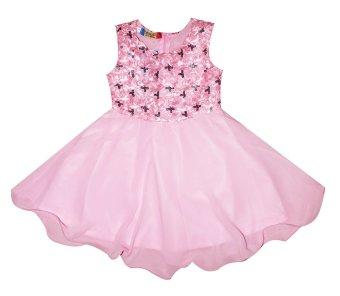 Đầm kim sa cho bé gái 2-9 tuổi Tri Lan DBG063 (Hồng)