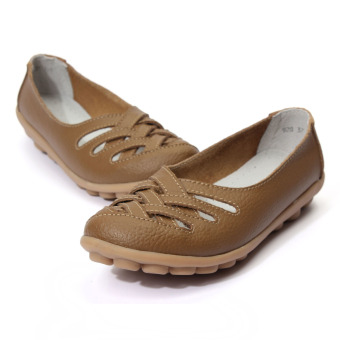 ... Women Sandals Summer Shoe Genuine Leather Hollow Out Nurses Working Cow Muscle Gladiator Flats Shoes ...