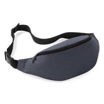Unisex Bag Travel Handy Hiking Sport Fanny Pack Waist Belt Zip Pouch Gray - intl