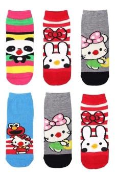 Bộ 6 đôi tất vớ trẻ em từ 5-8 tuổi bé gái SoYoung 6SOCKS 004 5T8 GIRL