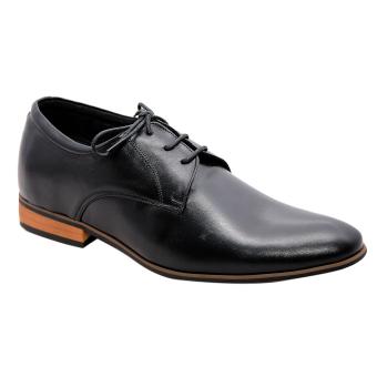 Giày nam tăng chiều cao da bò thật cao cấp màu đen ESM31
