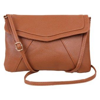 Fancyqube Envelope Satchel Shoulder Cross-Body Bags (Brown)