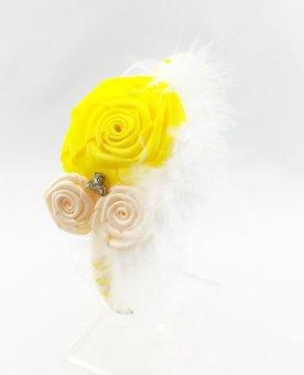 Cài tóc hoa hồng vàng HD3533