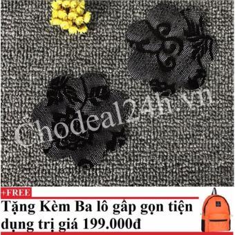 Bộ 18 miếng dán ngực vải ren dùng 1 lần (đen)+ Tặng kèm balo du lịch gấp gọn