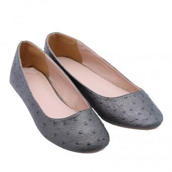 Giày búp bê DL01 Ghi đà điểu