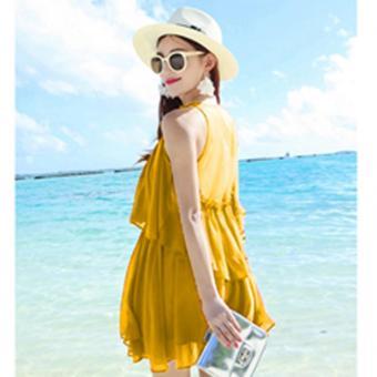 Đầm Maxi Lửng OL287 Bui Nguyen (Vàng)