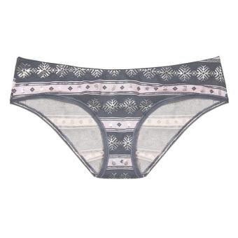 Quần lót Victoria's Secret Ruched-back Hiphugger Panty # Iconic Snowflake Print (R56)
