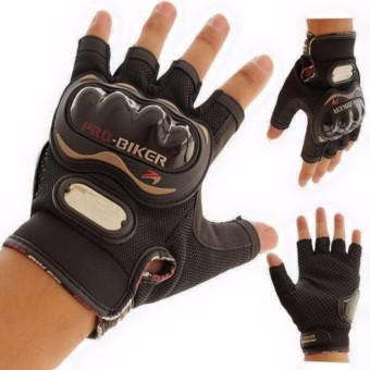 Găng tay cụt ngón Probiker chuyên phượt (Đen)