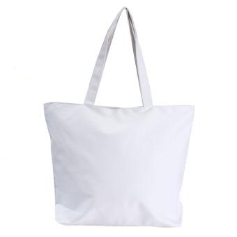 Teamwin Canvas Shopper Handbag Shopping Summer Beach Shoulder Bag White - Intl