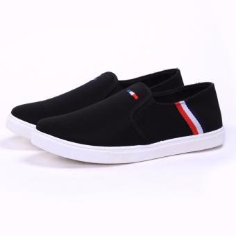 Giày Lười Vải Nam - Cv06 (Đen)