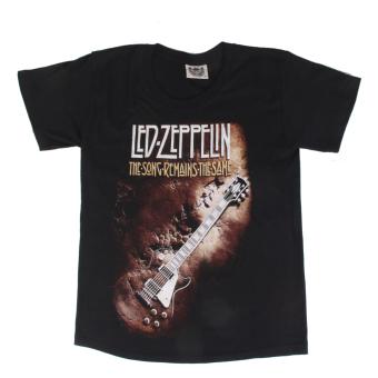 BolehDeals 3D Guitar Print Black T-shirt S - intl