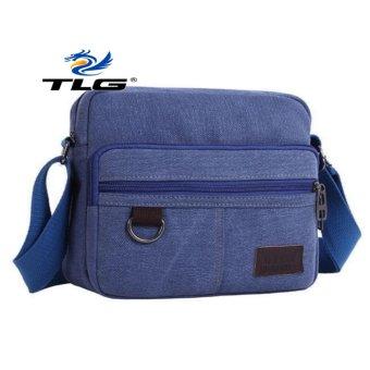 Túi canvas phối da phong cách Hàn Quốc TL8089 1(xanh)