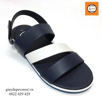 Giày Sandal 3 quai ngang nam thời trang Everest - EVE01 (Xanh phối trắng) D35