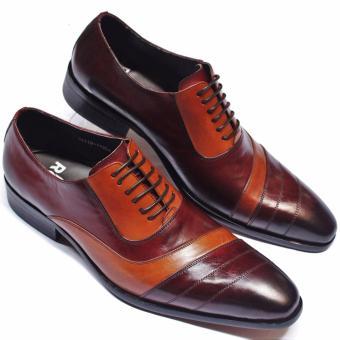 Giày Da Nam Cao Cấp ROSI GS12(Nâu)