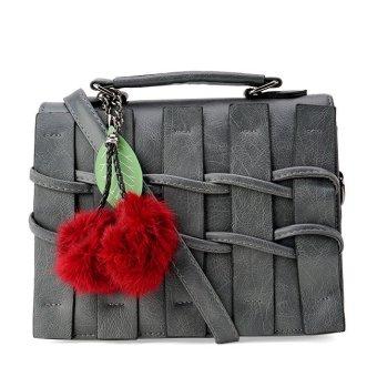 Túi hàng rào kèm bông thời trang Letin Fashion Handbags T6868-10-210 (Xám)
