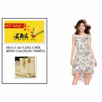 Đầm Mullet Họa Tiết W3078 + tặng 1 đôi bông tai (ngẫu nhiên)