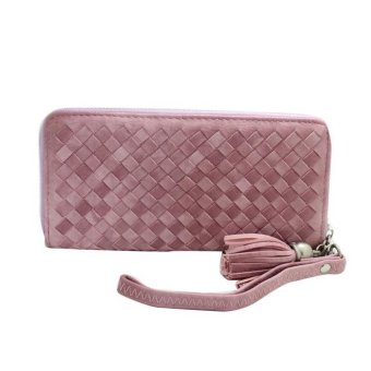 Women Zipper Long Purse Clutch Coin Phone Bag Wallet Card Holder - intl