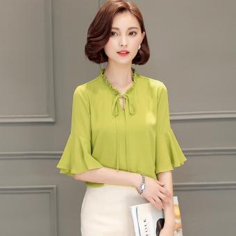 Áo Cổ Bèo Tay Loe (M,L,XL) - K63 - (Vàng chanh) Bui Nguyen