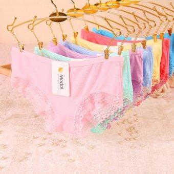 Bộ 10 quần lót Modal pha viền ren Super Sale