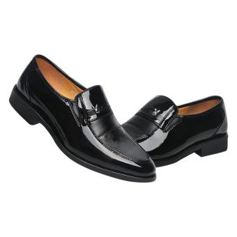 Giày tây nam da bóng V1 SM009 (Đen)