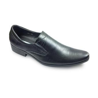 Giày tây xỏ da sần GS06-451-167-D G alanti (Màu Đen)
