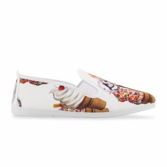 Giày Lười Flossy Salou (Trắng Cream)