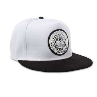 Fashion Men Women Eye Baseball Snapback Hat Hip-Hop Adjustable Bboy Sport Cap White - intl