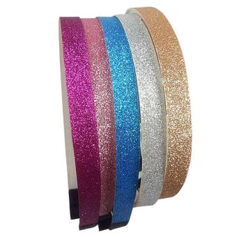 5Pcs Baby Infant Kids Girls Hairband Sparkly Glitter Hair Band Decoration Accessories with Teeth Shape for Shower Birthday Party Family Photo - intl