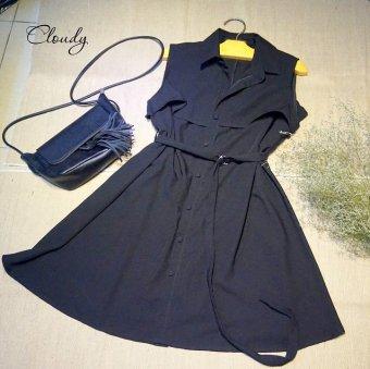 Đầm suông Xavia Clothes Cloudy (đen)