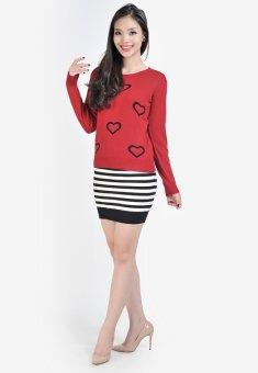 Áo len nữ hình tim HQ Lens (Đỏ)