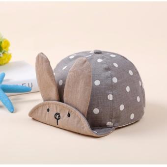 Nón, mũ tai thỏ cho bé K59(Xám)
