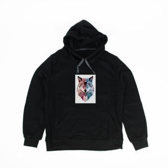 Áo khoác hoodie nam in hình Geowof Prints (đen)