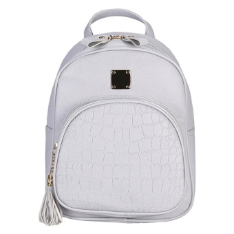Women Fashion Stone Pattern Travel Satchel School Bag Backpack Bag - intl