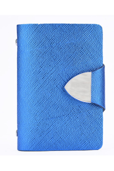 Synthetic Leather Business Case Wallet ID Credit Card Holder Purse For 26 Cards (Blue) - Intl