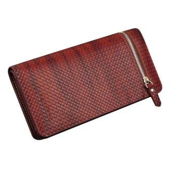 Men Leather Card Cash Receipt Holder Organizer Wallet Purse - intl