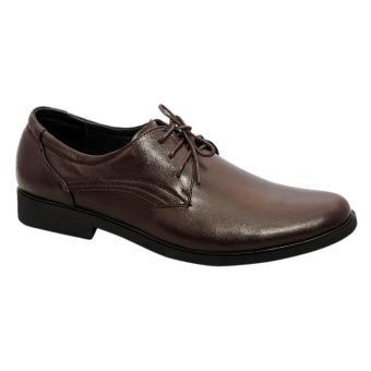 Giày nam da bò thật cao cấp Nâu ESM08