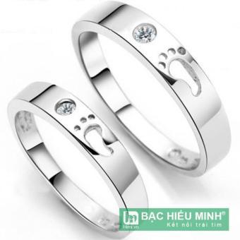 Nhẫn đôi Bạc Hiểu Minh nc137 luôn đi bên nhau