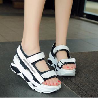 Giày sandal quai dán trang trí đá lấp lánh